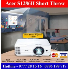 Acer S1286h Short throw Projector sale price Sri Lanka