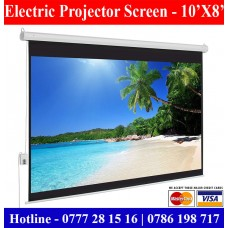 10x8 Electric Projector Screens supplier sale price Colombo, Sri Lanka