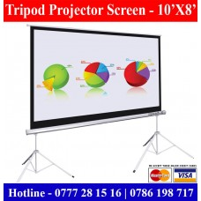 10x8 Tripod Projector Screens supplier sale price Colombo Sri Lanka