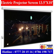 13X10 Electric projector screens sale price Colombo, Sri Lanka