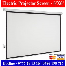 6X6 Electric Projector screens in Sri Lanka. Electric Screen for sale