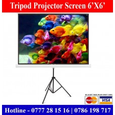 6X6 tripod projector screens sale in Sri Lanka. Projector Screen Price