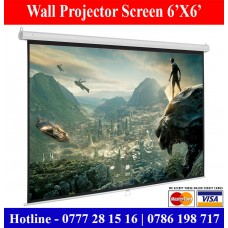 6x6 Wall Mount Projector Screens Suppliers Sale Price Colombo, Sri Lanka