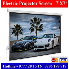 7x7 Electric Projector Screens supplier sale price Colombo, Sri Lanka