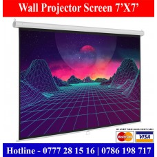 7x7 Wall Mount Projector Screens Suppliers Sale Price Colombo, Sri Lanka