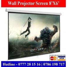 8X6 Wall mounting projector screens for sale Sri Lanka