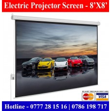 8x8 Electric Projector Screens supplier sale price Colombo, Sri Lanka